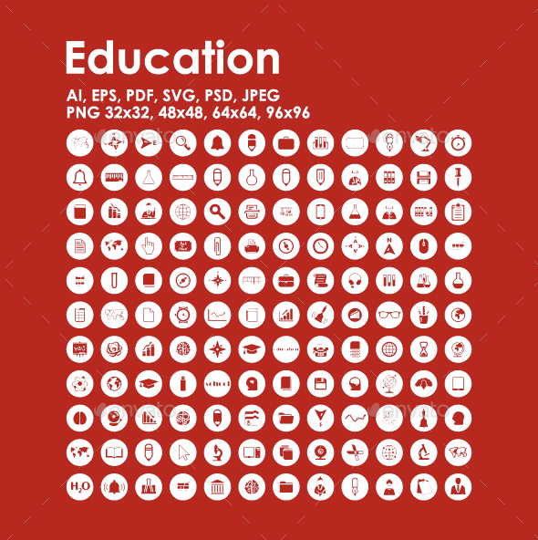 132 Education icons - Miscellaneous Icons