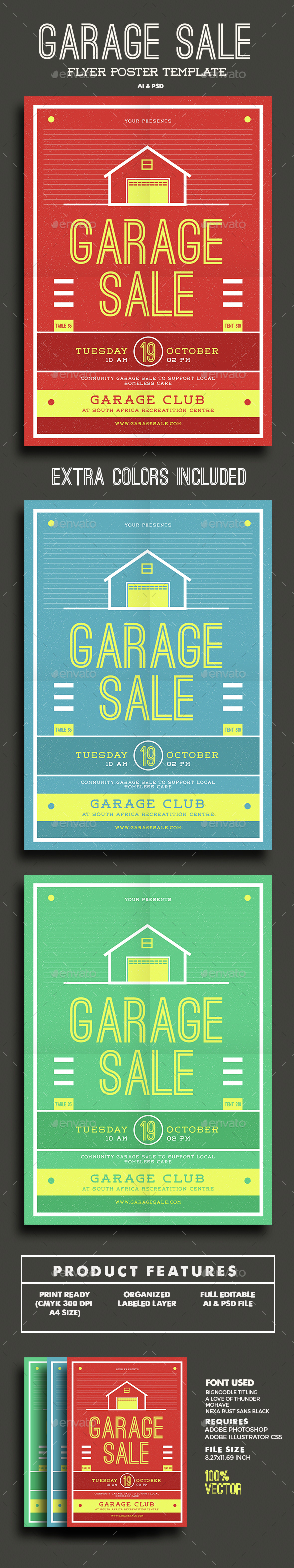 Garage Sale Flyer - Miscellaneous Events