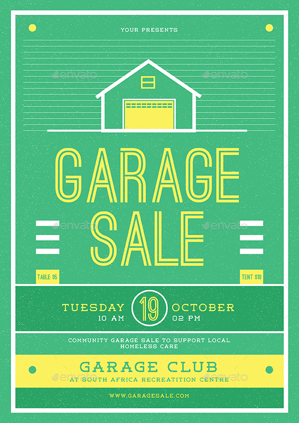 Retro Garage Sale Flyer By Lilynthesweetpea | Graphicriver