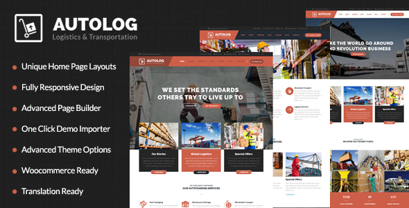 Autolog - Logistic, Warehouse & Transport WordPress Theme