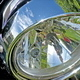 The Silver Headlight From the Motorbike  - VideoHive Item for Sale