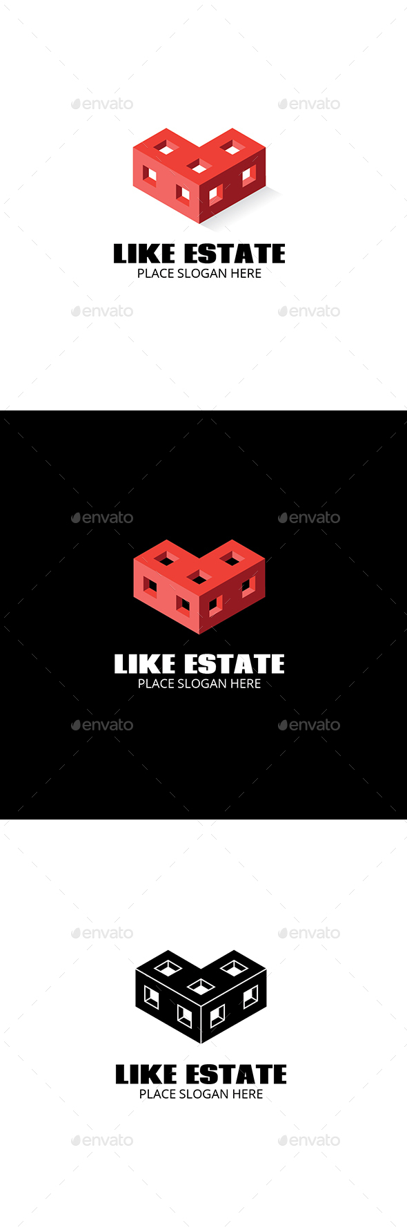 Like Estate Logo - Buildings Logo Templates