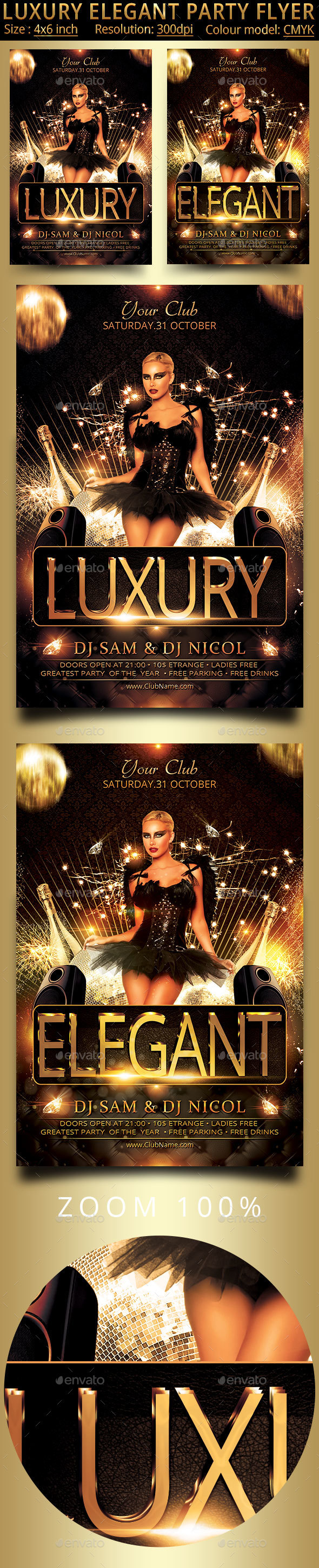 Luxury Elegant Party Flyer - Clubs & Parties Events