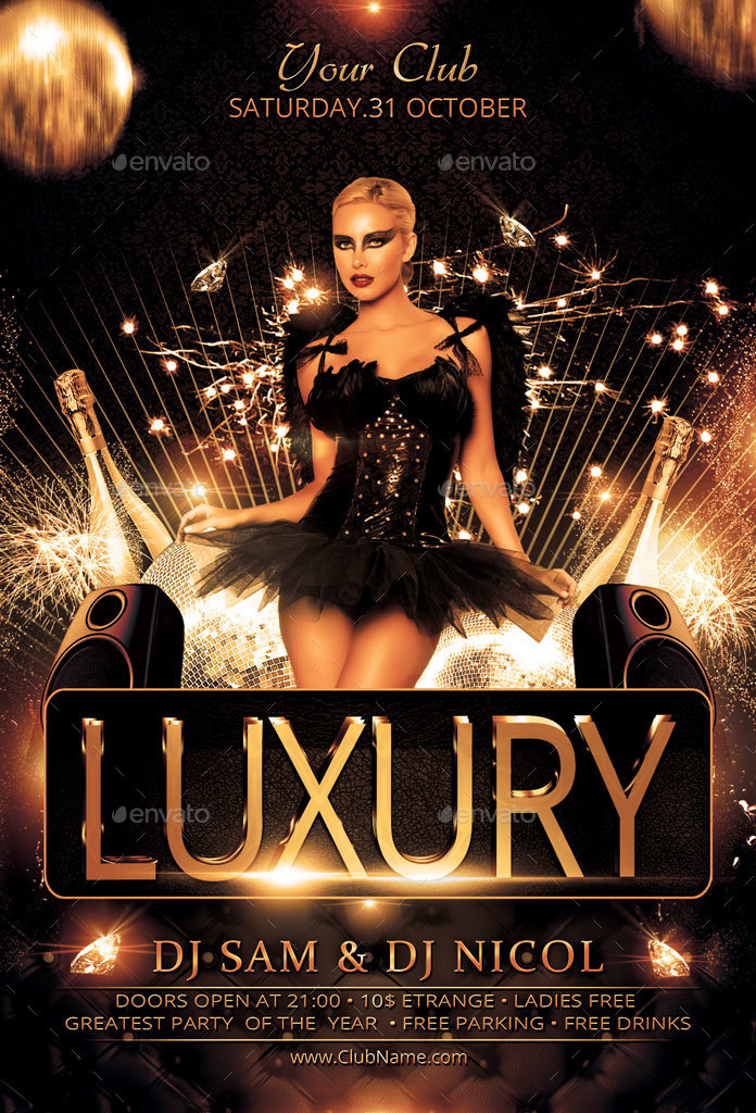 luxury elegant party flyer by oloreon