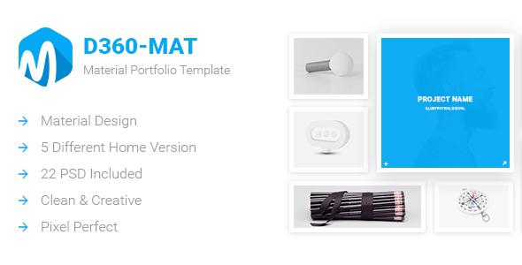 D360-Mat – Material Portfolio Template - Portfolio Creative