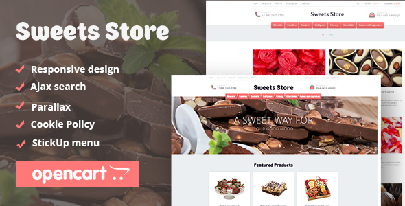Sweets Store – Responsive OpenCart Theme