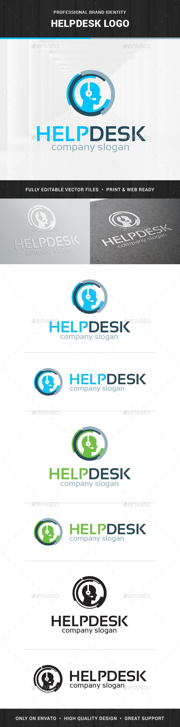 Help Desk Logo Template - Humans Logo Templates