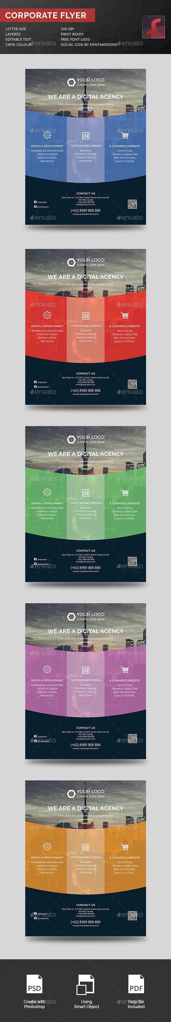 Corporate Digital Agency Flyer - Corporate Flyers