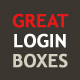 Sleek & Elegant Login Boxes - GraphicRiver Item for Sale