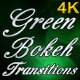 Green Bokeh Transitions - VideoHive Item for Sale