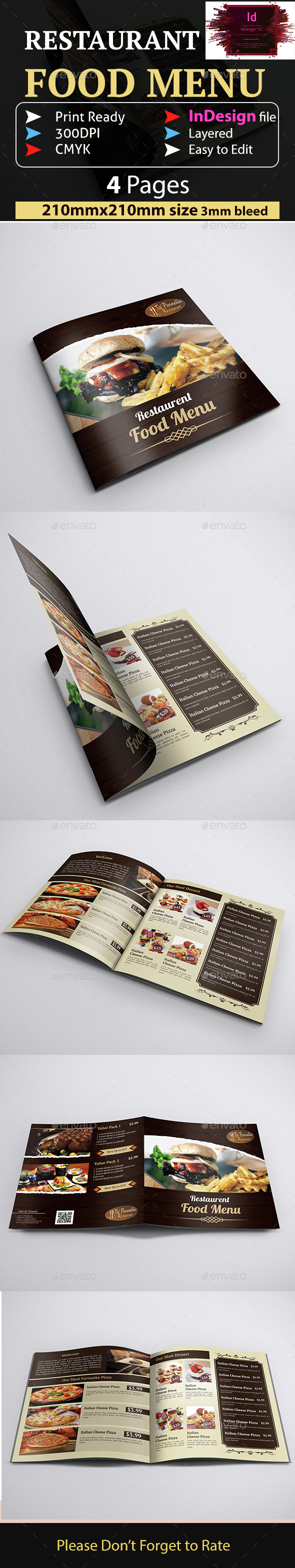 Restaurant Food Menu - Restaurant Flyers