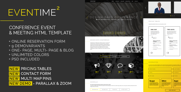 Eventime - Conference Event & Meeting HTML Template - Events Entertainment