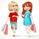 Two Pregnant Woman with Shopping Bags
