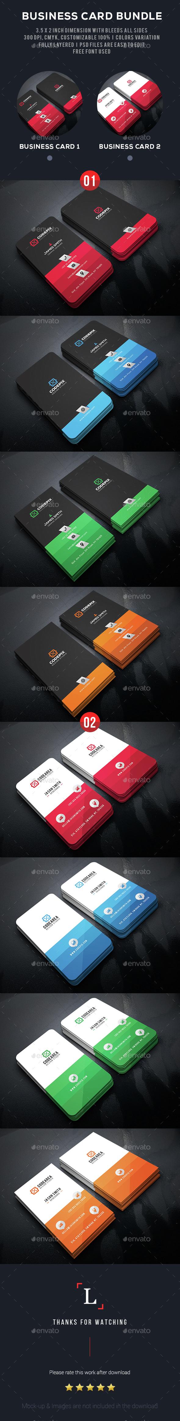 Color Business Card Bundle - Business Cards Print Templates