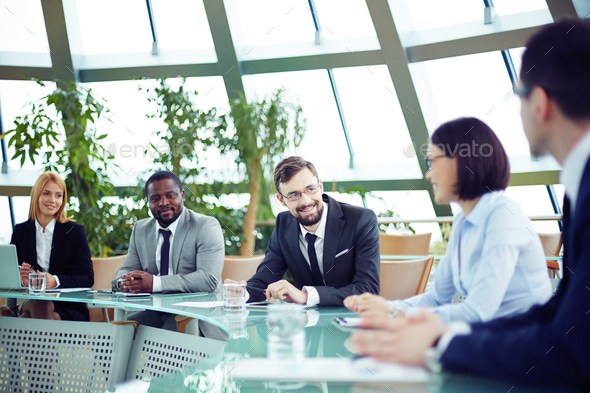 At conference - Stock Photo - Images