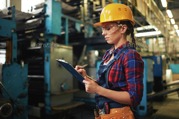 Industrial female inspector - Stock Photo - Images