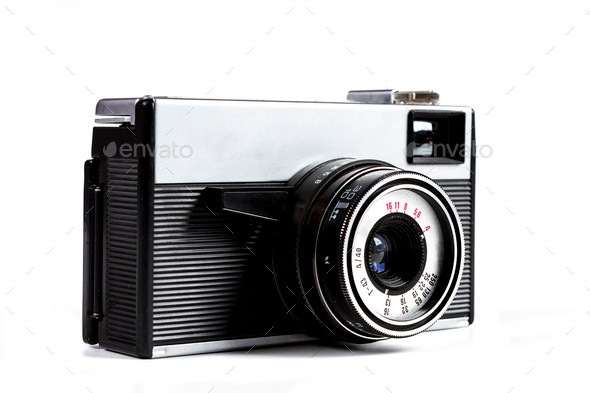 Silver Black Camera - Stock Photo - Images