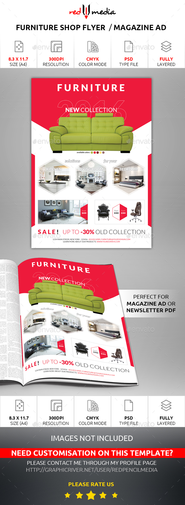 Furniture Shop Flyer / Magazine AD - Commerce Flyers