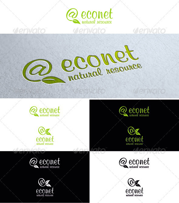 Eco Mail Logo - Symbols Logo Templates