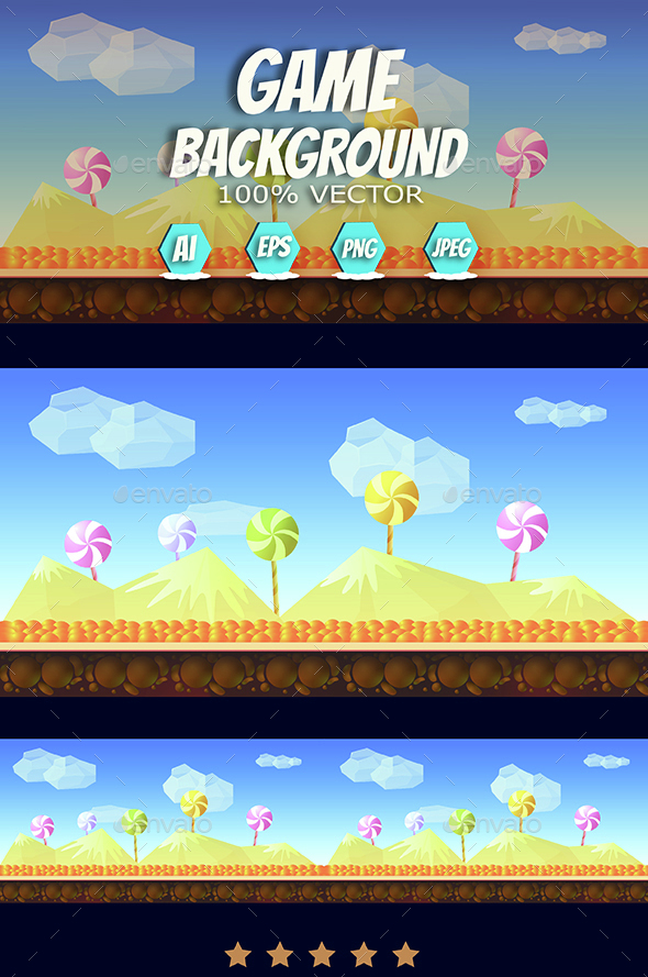Candy Background - Backgrounds Game Assets