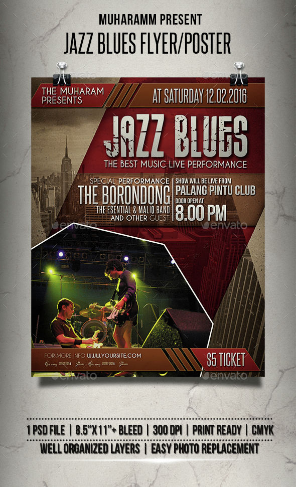 Jazz Blues Flyer / Poster - Events Flyers