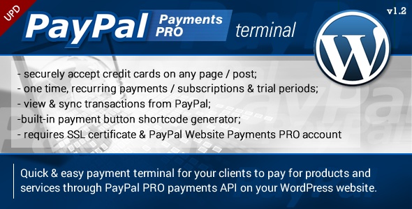 PayPal PRO Payment Terminal Wordpress - CodeCanyon Item for Sale