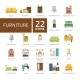 Furniture Flat Icons Set - GraphicRiver Item for Sale