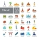 Travel Flat Icons Set - GraphicRiver Item for Sale