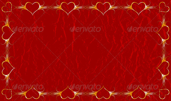 Grunge valentines background