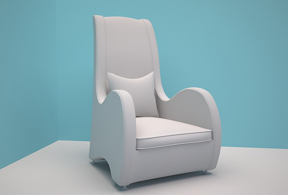 Modern Living Room Chair - 3DOcean Item for Sale