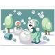 Bear make snowman color 16 - GraphicRiver Item for Sale