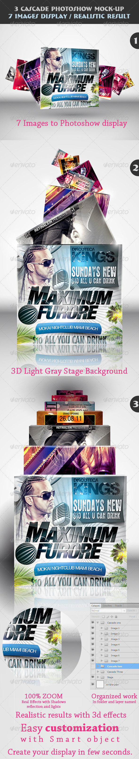 3 Cascade Photoshow Mock-up - Miscellaneous Displays