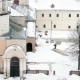 Janitor Cleans Snow In The Yard Of The Monastery - VideoHive Item for Sale
