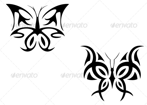 Butterfly tattoo - Tattoos Vectors