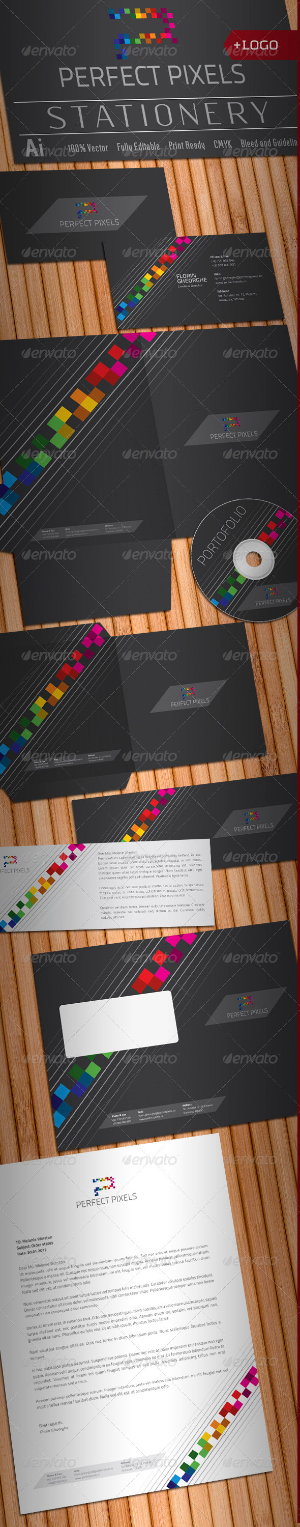 Perfect Pixels Stationery - Stationery Print Templates