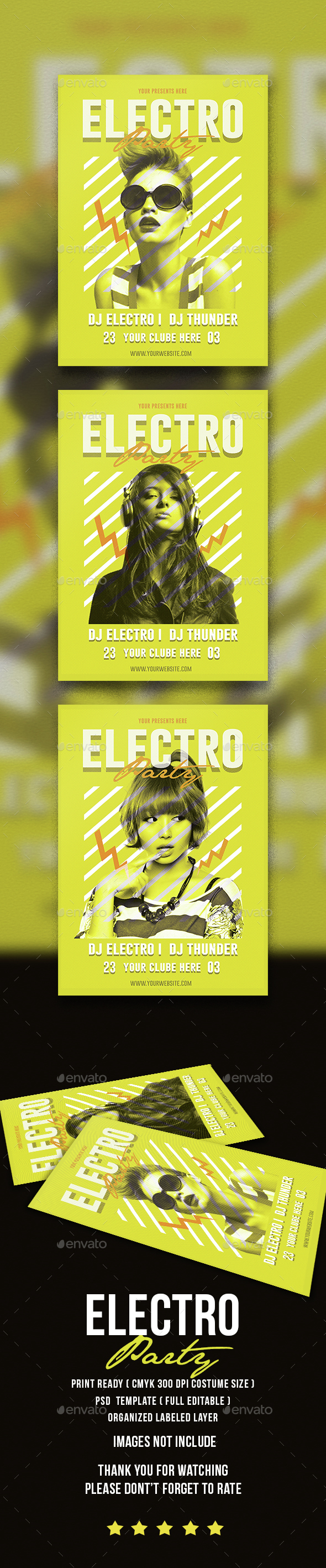 Electro Music Party - Events Flyers