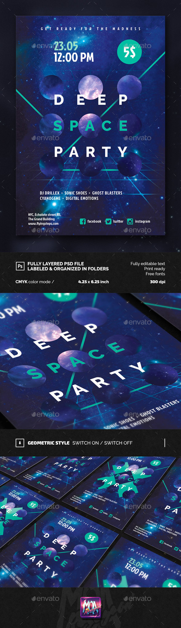 Deep Space Party FLyer - Clubs & Parties Events