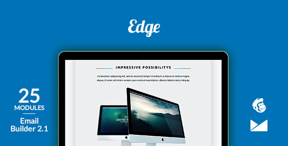 Edge Email Template + Online Emailbuilder 2.1 - Newsletters Email Templates
