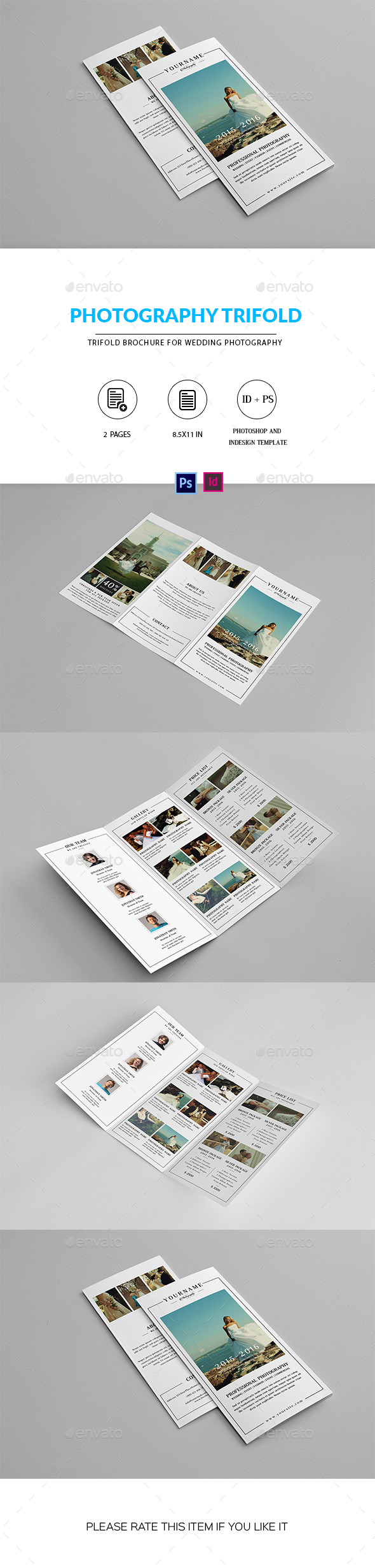 Wedding Photographer Trifold Brochure - Corporate Brochures