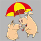 Cartoon Illustration of Happy Pigs for your Design - GraphicRiver Item for Sale