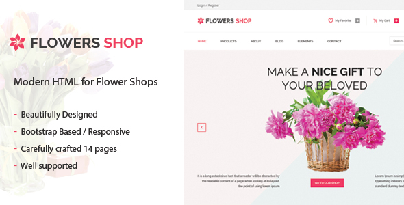 Flowershop – Flower – Boutique Shop HTML Template