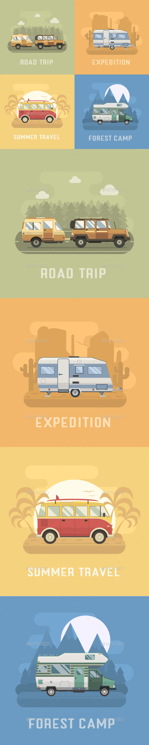 RV Travel Collection - Travel Conceptual