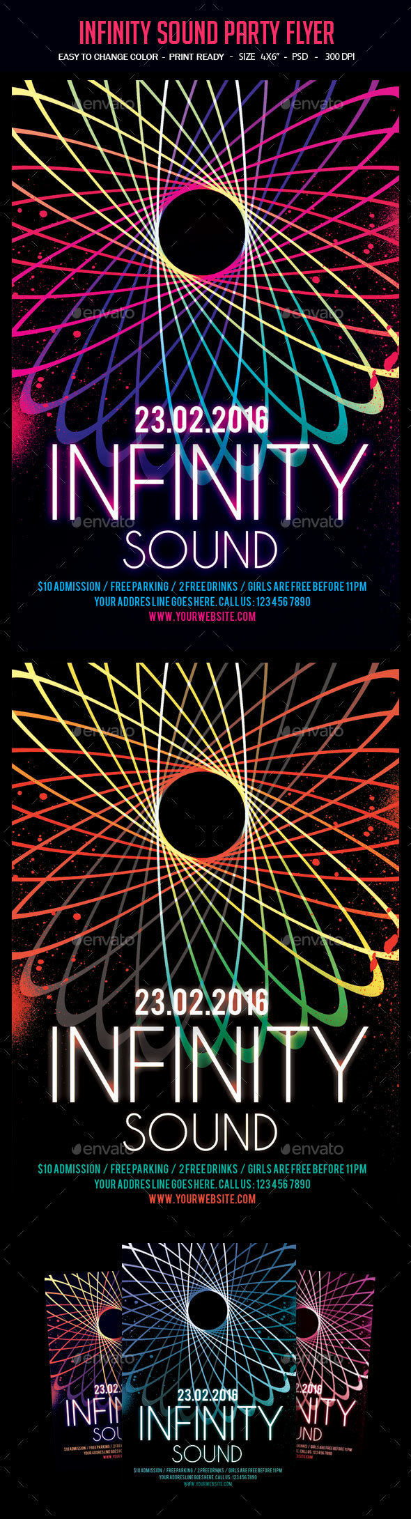 Infinity Sound Party Flyer - Clubs & Parties Events