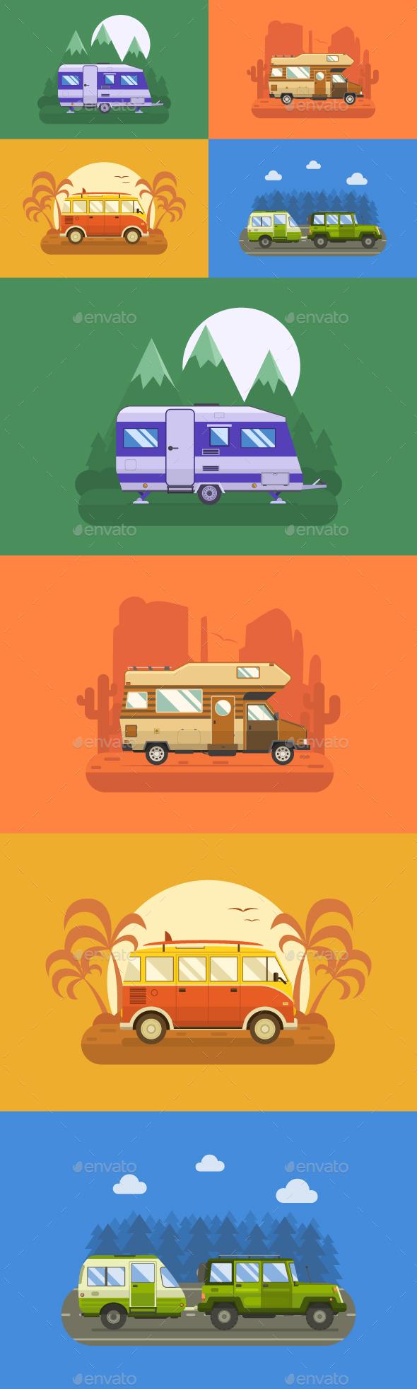 RV Travel Collection - Travel Conceptual