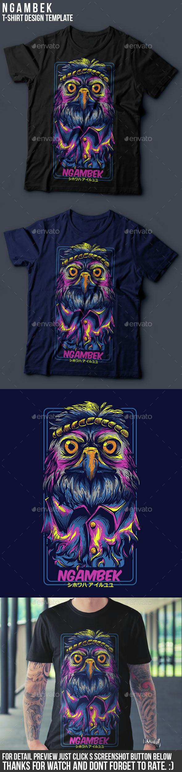 Ngambek T-Shirt Design - Funny Designs