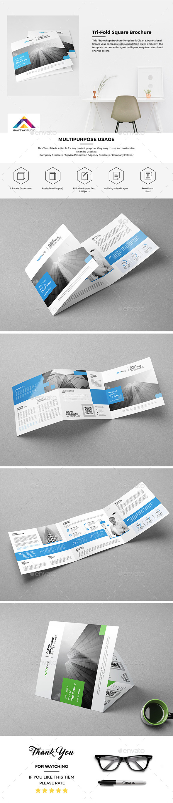 Tri-Fold Square Brochure 01 - Corporate Brochures