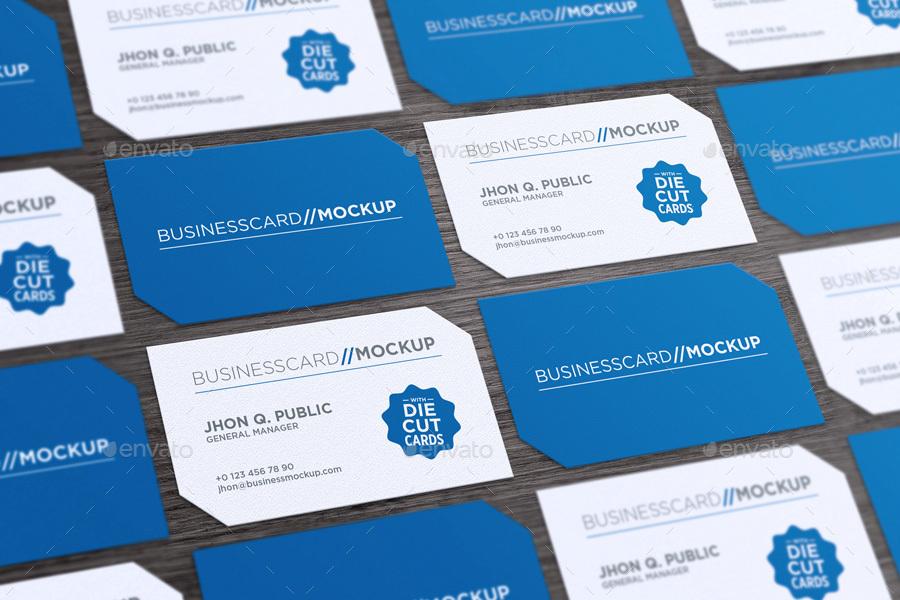 Die Cut Business Card Mock-Up by gokmenislimye | GraphicRiver