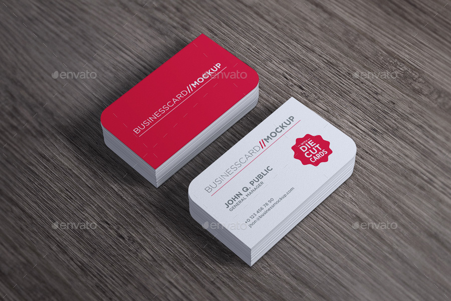 Die Cut Business Card Mock-Up by gokmenislimye | GraphicRiver