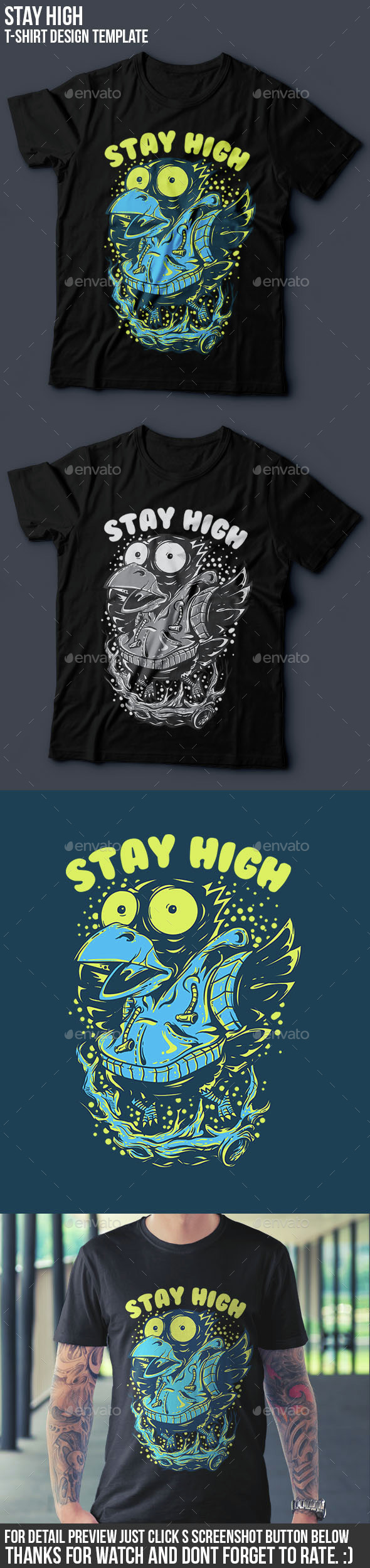 Stay High T-Shirt Design
