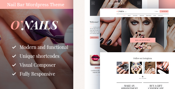 O'Nails – Nail Bar & Beauty Salon WordPress Theme